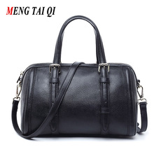 Genuine Leather Women Bag Luxury Brand Ladies Messenger Bag Handbags Women Famous Brands 2017 New Fashion Boston Totes Vintage 4