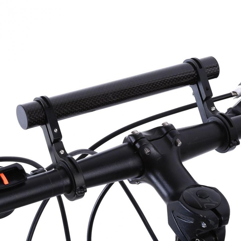 Black Bicycle Handlebar Extension Extender Bracket Safety Bicycle Accessories