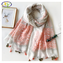 1PC 180*100CM 2017 Spring Summer New Design Cotton Women Fashion Tassels Long Scarf Woman New Viscose Tassels Pashminas Shawl