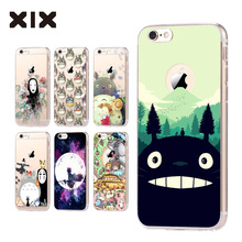 For fundas iPhone 5S case 5C 5S 6 6S 7 Plus Totoro soft silicone TPU cover 2016 new arrivals original for coque iPhone 6S case