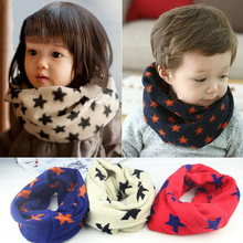 New Arrival Autumn Winter Warm Kids Baby Scarf Children Cotton O Ring Scarf for Girls Boys Five Stars Knitted Woolen Neck Scarf(China)