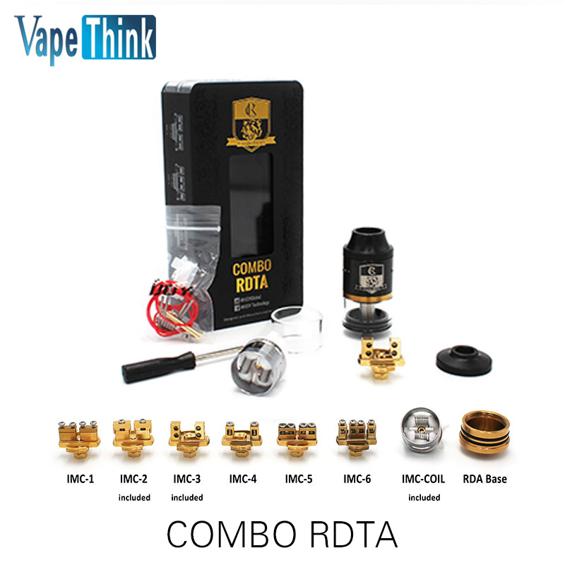NEW 100% Original iJoy COMBO RDTA Tank with 6.5ml e-Juice Capacity &amp; Interchangeable Gold Plated Deck Atomizer<br><br>Aliexpress