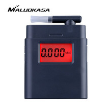 MALUOKASA Portable Digital Alcohol Breathalyzer for Drunk Driving AT-838 Breath Alcohol Tester with Mouthpiece LCD Detector(China)