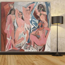 Frameless Abstrct Picasso Oil Painting Abstract Portrait art canvas prints wall pictures for Living Room home decoration