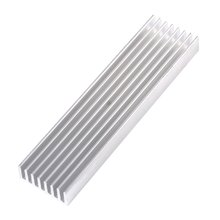 100*25*10mm DIY Cooler Aluminum Heatsink Heat Sink Chip For IC LED Power Transistor(China)