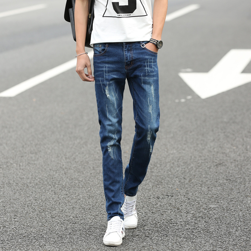 Four Seasons can wear jussara mens fashion brand Slim Straight jeans waist Young people straight slacks quality men jeansОдежда и ак�е��уары<br><br><br>Aliexpress