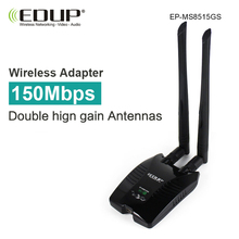 EDUP Ralink RT3070L 150mbps usb wifi adapter high gain 2*5dBi wifi antennas long distance wi fi receiver usb ethernet adapter(China)