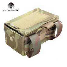Emerson Airsoft Molle Shotgun Ammo Holster Box Hunting Bullet Bag Pouches 1000D Military Outdoor Sport Waist Bags EM9040
