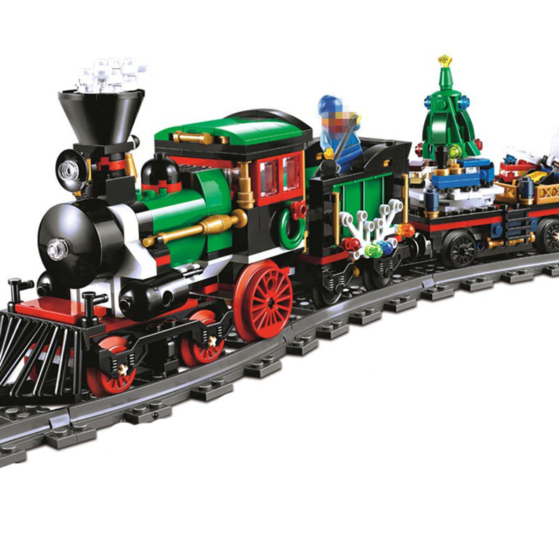 StZhou Lepin 770Pcs Creative Series The Christmas Winter Holiday Train Set Children Building Blocks Bricks Christmas Gifts <br>