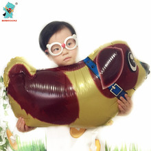 HOT Foil Dog Balloon Party Supplies Walking Pet Balloons Little Dog Kids Birthday Party Inflatable Air Balloons 2PCS