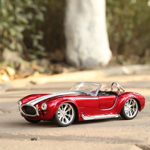 Red Color Children Toys Die-cast 1:32 Shelby SHELBY COBRA427 classic vintage racing car convertible alloy Vintage car models(China)