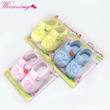Cotton Lovely Baby Shoes Toddler Soft Sole Skid-proof 0-12 Months Kids infant Shoe 3 Colors