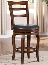 Free Shipping Accent Wood Bar Stool with PU Leather Seat