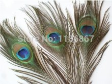 Free Shipping 200pcs/lot  Beautiful Natural Peacock Tail Feathers 25-30cm/10-12inch peacock feathers for sale centerpieces DIY