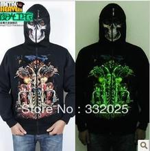 C&C Market.Free Shipping.quality Street wear,men' clothing.skull Hoodies,Sweatshirts for man.3D print.Brand luminous coat.