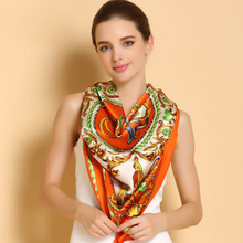 New Style Large Size Square Silk Scarf Women Elegant Air-Conditioner Shawl Hand Painted 100% Mulberry Silk Scarves Shawls F519(China)