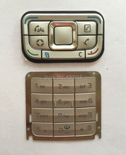 White new housing cover mobile phone keypads,keyboards,buttons for Nokia E65,Free shipping