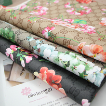 50*136cm DG geranium soft PU leather fabric for sewing PU artificial leather for DIY bag sofa decorative free shipping 1000g/M