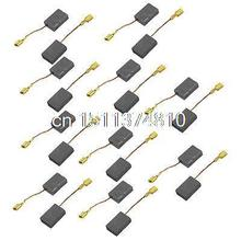 "10 Pairs 19/32"" x 25/64"" x 1/5"" Power Tool Carbon Brushes for Electric Drill"