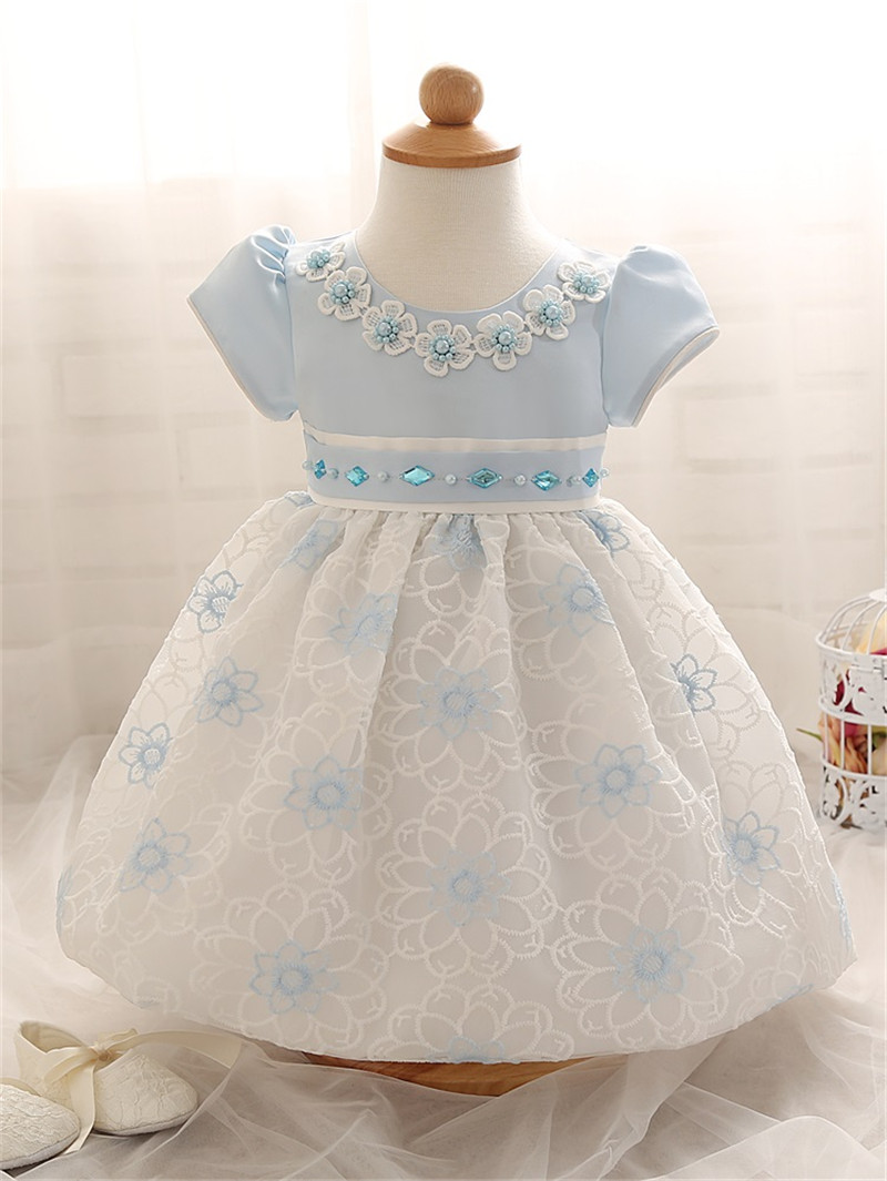 Flower Lace Girl Dress 2017 Summer Kids Girls Clothes For First Birthday Party Gown Dresses Newborn Baby Children Costume Dress(China (Mainland))