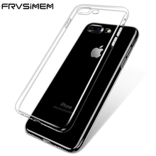 2017 NEW Transparent Clear Case for iPhone 5 5s SE 6 6S 7 8 Plus X Soft Gel TPU Silicone Ultra Thin Phone Cover Cheap Funda(China)