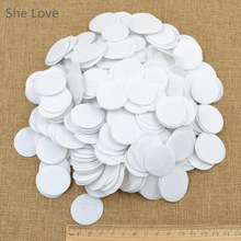 500pcs White 30mm Felt Circle Die Cut Appliques DIY Cardmaking Craft Round New