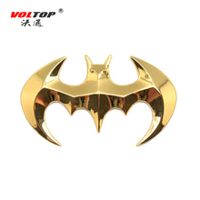 VOLTOP 3D Stereo Metal Bat Car Stickers Auto Motorcycle Sticker Silver Gold Car Styling Cool Personality Decoration Accessories(China)