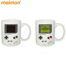 Funny Heat Sensitive Nintendo Game Boy Ceramic Mug Home Office White Porcelain Milk Beer Coffee Mug Color Changing Drinkware(China)