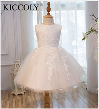 Top Quality Girl Red Wedding Dress First Communion Dresses For Birthday Tulle Lace Infant Toddler Pageant Flower Girl Dresses
