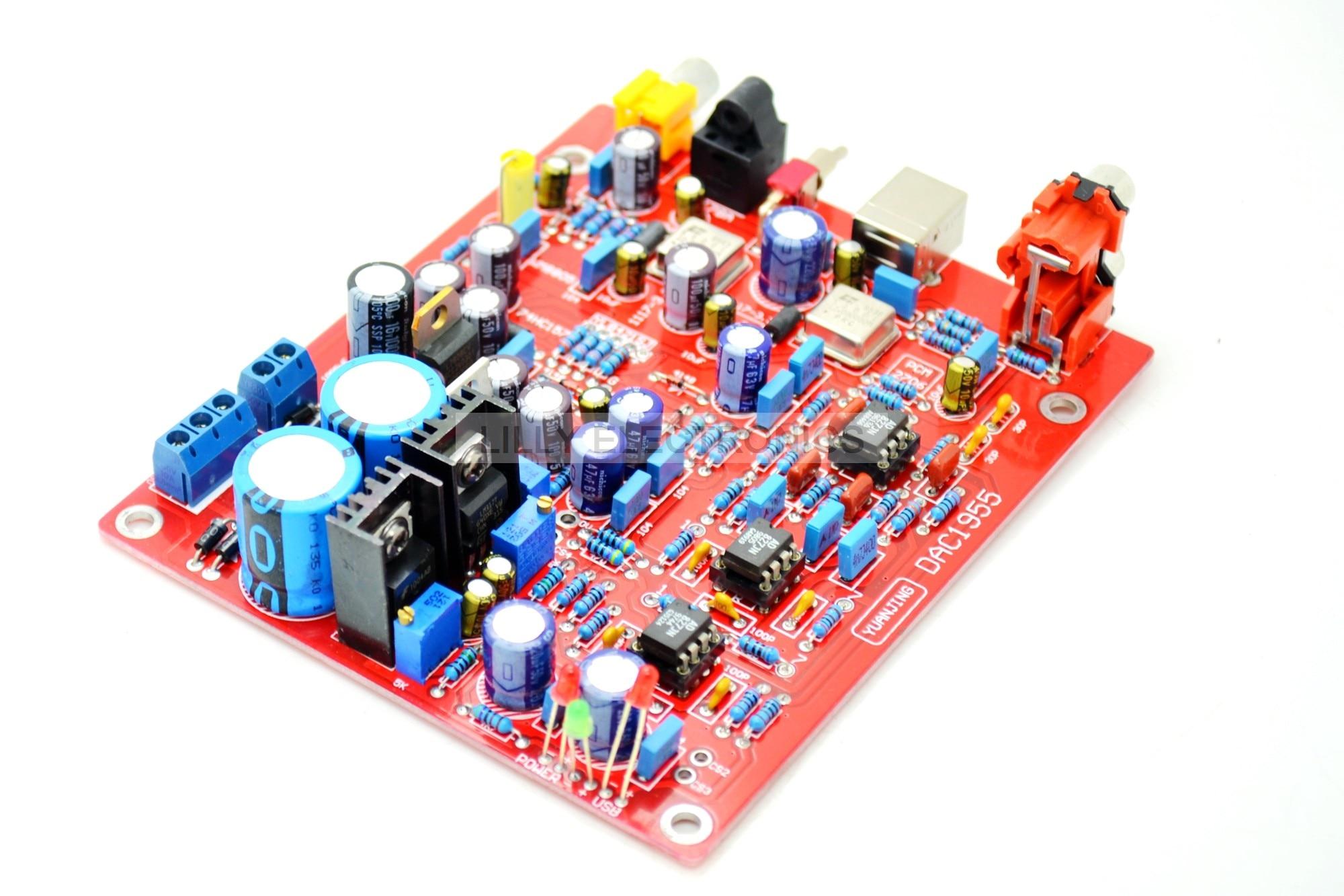 YJ-1 WM8805+AD1955+PCM2706 Coaxial fiber optic USB DAC Board<br><br>Aliexpress