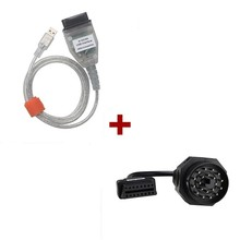 Newest For BMW INPA/Ediabas OBD & ADS Interface with 20pin OBD1 to OBD2 Female Adapter Cable