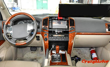 For Toyota Land Cruiser LC200 2008-2015 Left-hand drive Wood Color interior trim car styling