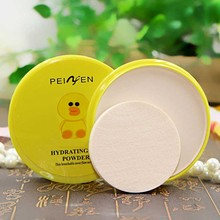 1Pcs Cute Cartoon Makeup Face Concealer Base BB Powder with Puff Foundation Make Up Highlight Face Minerals Powder Makeup(China)