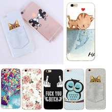 Butterfly Pattern Case For iphone 5 5S SE 6 6S 7 7 Plus X Cute Cat Thin Soft TPU Protective Cell Phone Cases Cover For Iphone X(China)