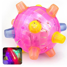 Tofoco Funny Flashing Bouncing Ball Best Birthday Gift for Baby Boys and Girls LED Light Dancing Music Ball Toys