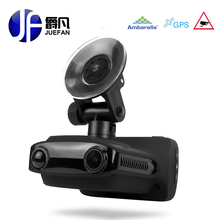 JUEFAN Multifunction car dvr gps dvr radar detector Overspeed prompt FHD1296P Recorder Russian Language Car Camera dash camera(China)