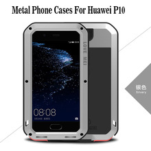 2017 P10 Case LOVE MEI Powerful Aluminum Dirt life Waterproof Shockproof Cover Case for Huawei P10 Cell Phone+ Tempered Glass