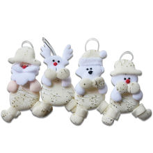 Sale of Batch 24pcs Santa Claus Snowman Reindeer Pendant Christmas Tree Decoration Window Hanging Ornaments for Home Decor SD293