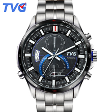 A500G Mens Watches Top Brand Luxury TVG Brand Men Business Casual Watch Stainless Steel Strap Quartz Watch Fashion Sports watche