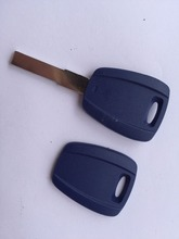 ZABEUDEIR 1pcs of new replacement Key case For Fiat transponder key shell (no logo) uncut blade Blue color fob no chip inside(China)