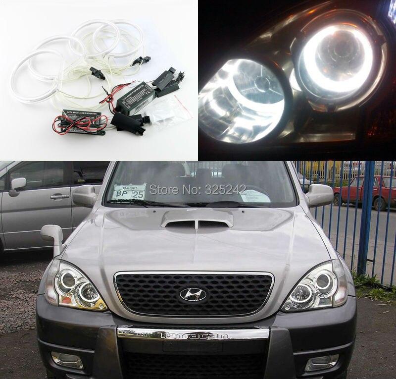 For Hyundai Terracan 2001 2002 2003 2004 2005 2006 2007 Excellent CCFL Angel Eyes Ultrabright illumination Angel Eyes Halo Ring<br><br>Aliexpress