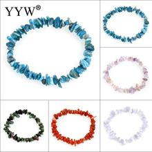 Buy Natural Gem stone Bracelet Nuggets Healing Elastic Charm Chip Beads Crystal Bracelets Women Fashion Jewelry Boho Bangles for $1.10 in AliExpress store