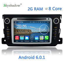 Android 6.0.1 Car DVD Player 8 Core Newest HD Media Video For Benz Smart Fortwo 2012 2013 2014 2G RAM 32G ROM Radio BT WIFI