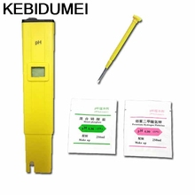 PH Meter Tester High Digital Portable Pen Pocket Water Quality Measure Range 0.0-14.0pH for Aquarium Pool Water Laboratory Soil(China)