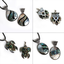 Unique Designs Random Black Shell Pendant for Necklace Natural Freshwater Pearl Shell Pendant Abalone Shell DIY Jewelry Making