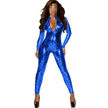Buy Hot Sexy Vinyl Leather Latex Catsuit 2016 Fashion Sexy Clubwear Women Jumpsuit Bodysuit One Piece Summer Set Jumpsuit