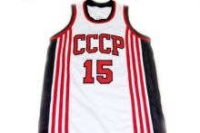 Arvydas Sabonis #15 CCCP Team Russia New Men Basketball Jersey Embroidery Stitched Custom any Number and name Jerseys