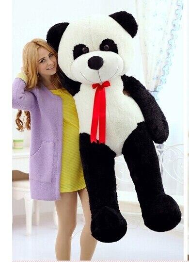 150 cm panda plush toy lovely silk belt panda doll birthday gift w6850<br><br>Aliexpress