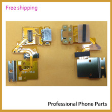 10pcs /lot Original  For Sony Xperia Tablet Z SGP311 SGP312 USB Charging Port Dock Connector Complete Flex Cable, Free Shipping