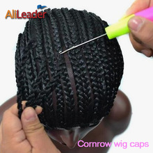 Alileader Cornrow Wig Caps For Making Wigs Cheap $5.99/Pcs Braided Wig Cap Weaving Lace Cap For Chrochet Braids Weaving Caps